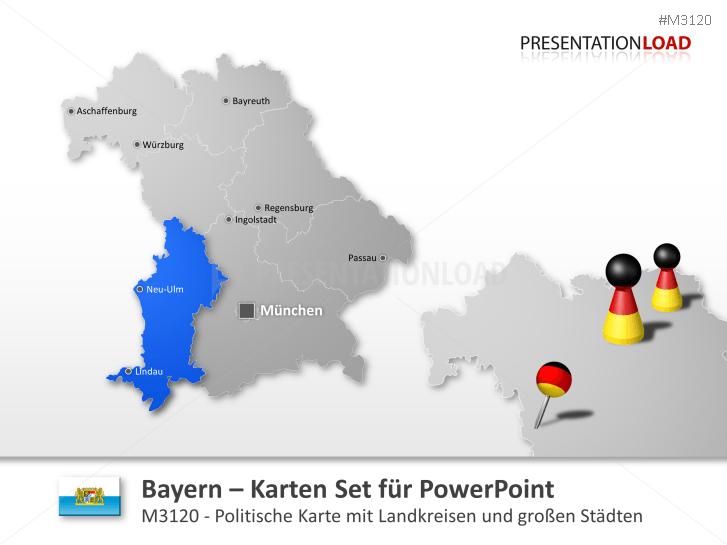 Bayern _https://www.presentationload.de/landkarte-bayern.html