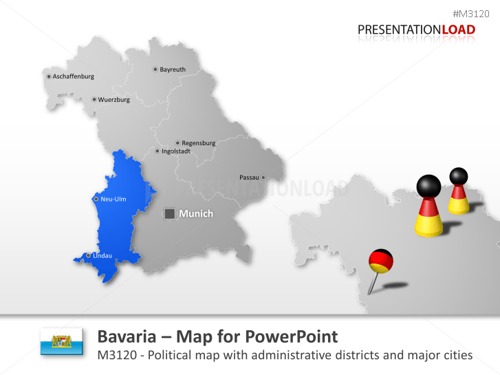 PowerPoint Map Bavaria (Germany) | PresentationLoad