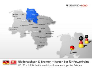 Niedersachsen / Bremen _https://www.presentationload.de/landkarte-niedersachsen-bremen.html
