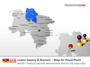 Lower Saxony / Bremen _https://www.presentationload.com/map-lower-saxony-bremen.html