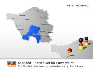 Saarland _https://www.presentationload.de/landkarte-saarland.html