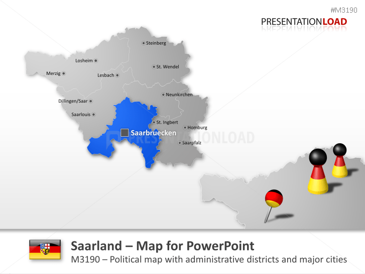 Saarland _https://www.presentationload.com/map-saarland.html