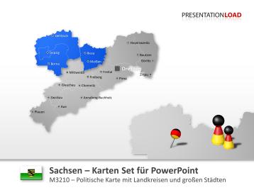 Sachsen _https://www.presentationload.de/landkarte-sachsen.html