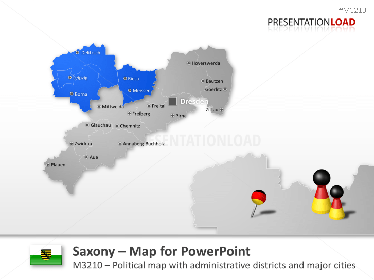Saxony _https://www.presentationload.com/map-saxony.html