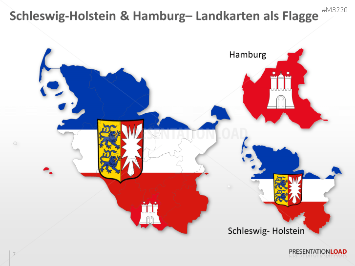 Schleswig Holstein Karte.Powerpoint Landkarte Schleswig Holstein Hamburg Presentationload