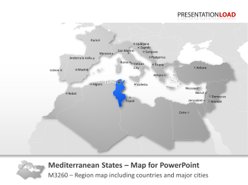 Mediterranean countries _https://www.presentationload.com/map-mediterranean-countries.html