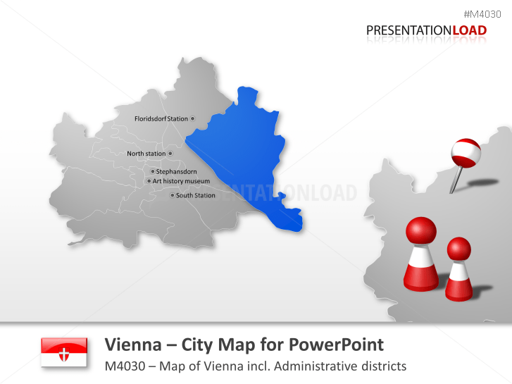 Vienna - City Map _https://www.presentationload.com/city-map-vienna.html