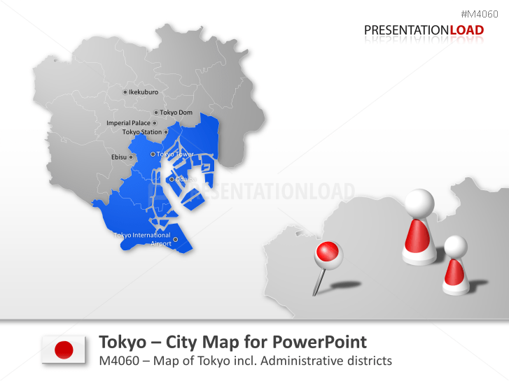 PowerPoint City Map Tokyo Japan PresentationLoad