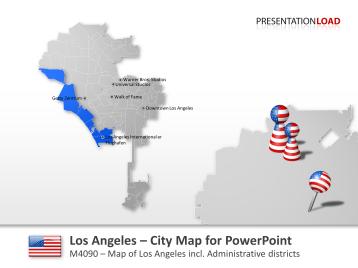 Mapa de la ciudad de Los Ángeles _https://www.presentationload.es/los-angeles-mapa-de-la-ciudad.html