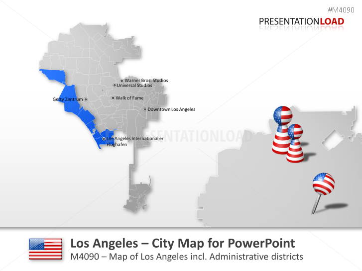 Los Angeles - City Map _https://www.presentationload.com/city-map-los-angeles.html