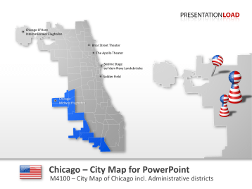 Mapa de la ciudad Chicago _https://www.presentationload.es/chicago-mapa-de-la-ciudad.html