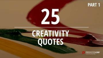 Zitate über Kreativität - kostenlose PowerPoint-Vorlage _https://www.presentationload.de/kostenlose-powerpoint-zitate-kreativitaet.html