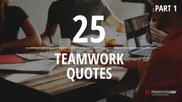 Zitate über Teamwork - kostenlose PowerPoint-Vorlage _https://www.presentationload.de/kostenlose-powerpoint-zitate-teamwork.html