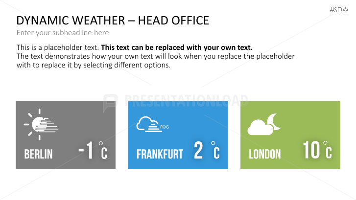 Dynamic Weather For Powerpoint Powerpoint Template Presentationload