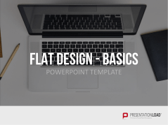 Flat design - Kit de base _https://www.presentationload.fr/basic-flat-design-powerpoint-templates-fr.html