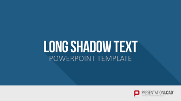 Flat Design - Long Shadow Text