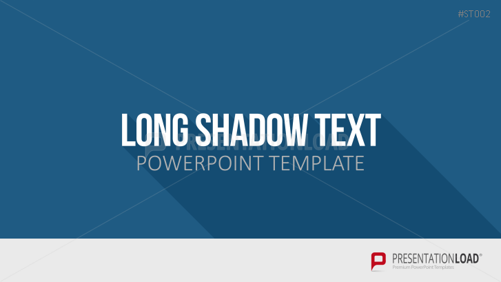 presentationload | flat design - long shadow text, Powerpoint templates