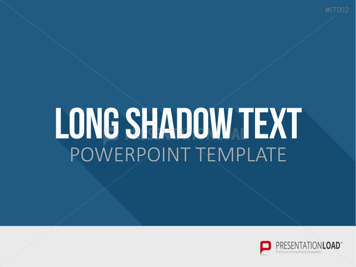 Flat Design - Long Shadow Text _https://www.presentationload.de/long-shadow-flat-design-powerpoint-vorlagen.html