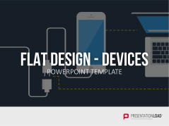 Flat design - appareils mobiles et ordinateurs _https://www.presentationload.fr/mobile-devices-computers-flat-design-powerpoint-templates-fr-1.html