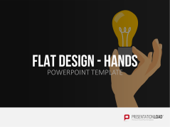 Flat Design - Hands _https://www.presentationload.com/hands-flat-design-powerpoint-templates.html