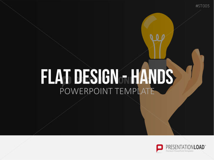 Flat design - Mains _https://www.presentationload.fr/mains-flat-design-powerpoint-templates-fr.html