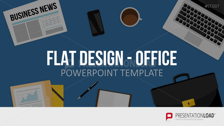 Flat Design - Office Items