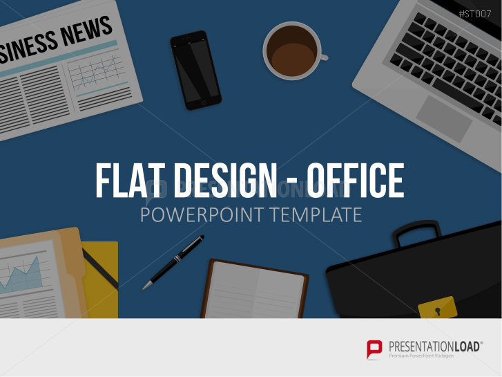 Flat Design - Office Items _http://www.presentationload.com/office-flat-design-powerpoint-templates.html