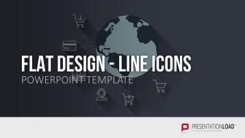 Diseño plano - Iconos de línea _https://www.presentationload.es/iconos-flat-design-plantillas-de-powerpoint-1.html