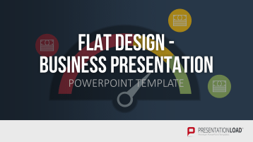 Flat design - Présentation Business