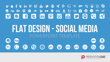 Flat Design – Social Media _https://www.presentationload.de/social-media-flat-design-powerpoint-vorlagen.html