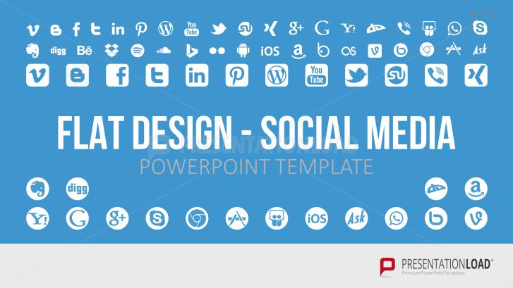 Redes sociales- diseño plano