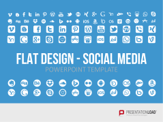 Flat Design - Social Media _https://www.presentationload.de/social-media-flat-design-powerpoint-vorlagen.html
