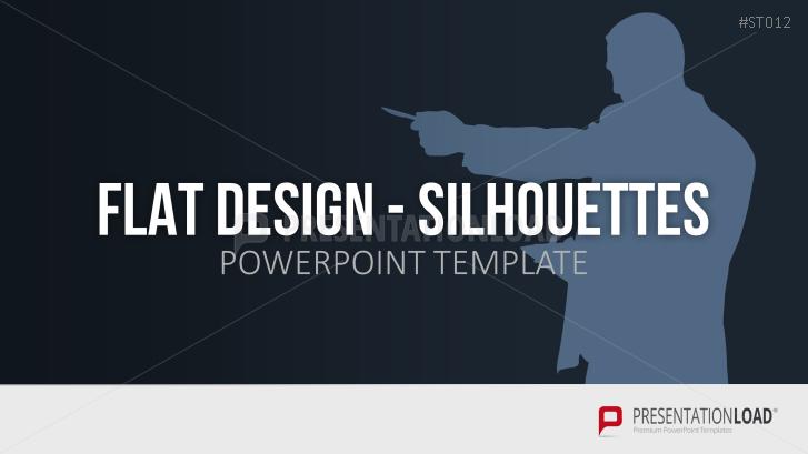 Flat Design - Silhouetten (Personen)