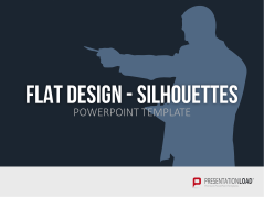Flat Design - People Silhouettes _http://www.presentationload.com/people-silhouettes-flat-design-powerpoint-templates.html