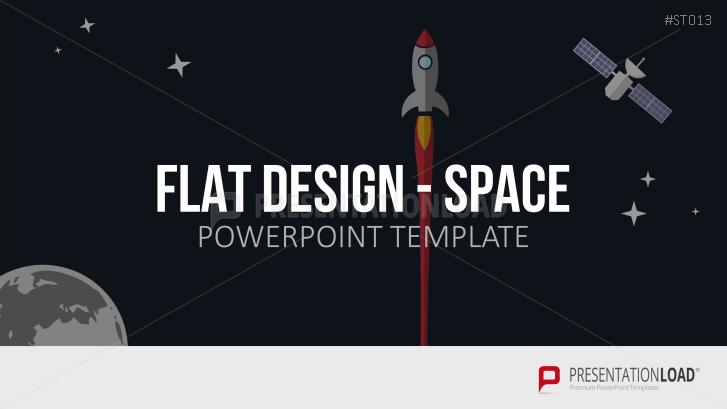 Flat Design - Weltraum