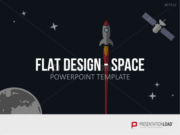 Flat Design - Space _https://www.presentationload.com/space-flight-flat-design-powerpoint-templates.html