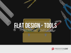 Flat Design - Outils _https://www.presentationload.fr/outils-silhouettes-flat-design.html