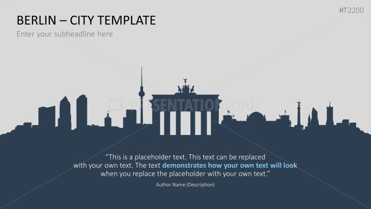 Presentationload City Template Berlin