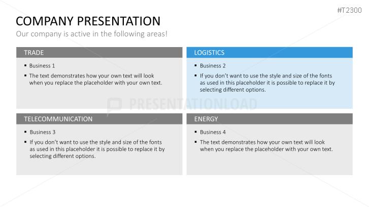 Company Presentation PowerPoint Template Basic