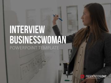 Interview Businesswoman _https://www.presentationload.com/self-presentation-business-woman.html