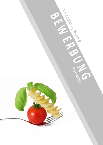 Bewerbungsvorlagen für Gastronomieberufe