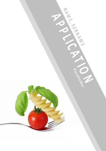 Application Template Collection for Gastronomy Professions