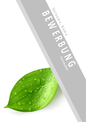 Bewerbungsvorlagen für Naturberufe