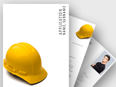 Construction Job Application Template _https://www.presentationload.com/job-application-template-construction.html