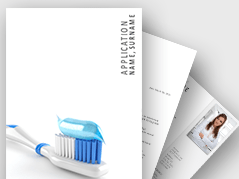 Dental Job Application Template _https://www.presentationload.com/job-application-template-dental.html