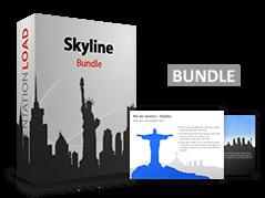 Paquete de paisajes urbanísticos _https://www.presentationload.es/skyline-bundle-1.html