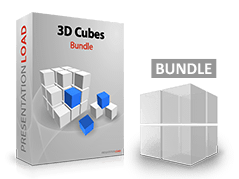 Offre groupée Cubes 3D _https://www.presentationload.fr/package-cube-3d-1.html