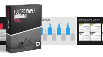Folded Paper - Origami Bundle _https://www.presentationload.de/folded-paper-origami-bundle.html