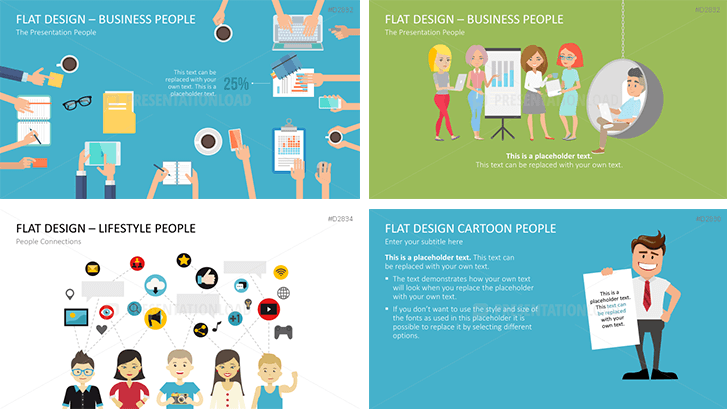 Flat Design – Presentation People Bundle
