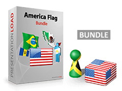 Amerika - Flaggen Bundle _https://www.presentationload.de/flaggen-amerika-bundle.html